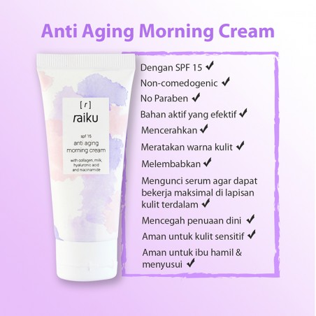 Anti Aging Morning Cream SPF15