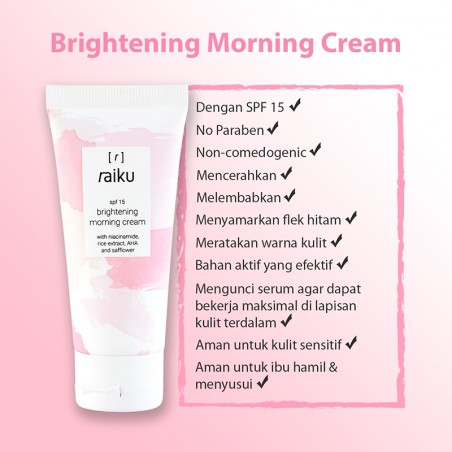 Brightening Morning Cream SPF15